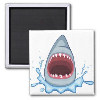 vectorstock_383155 Cartoon Shark Teeth hungry Refrigerator Magnets