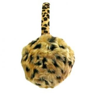 Luxury Divas Leopard Animal Printed Faux Fur Winter Earmuffs Cold Weather Headbands