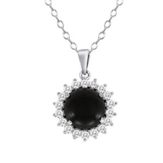 white topaz frame pendant in sterling silver $ 79 00 add to bag send