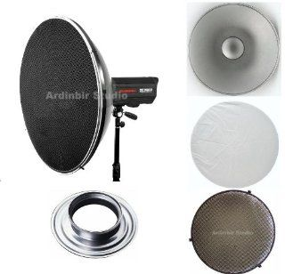 """Ardinbir Studio 22"""" 55cm Beauty Dish Reflector Honeycomb Grid & Diffuser Set for Norman Monolights ML400, ML 400, ML400R, ML400R, ML600, ML 600, ML600R, ML 600R Strobe Monolight Light""  Photographic Monolights  Camera & Pho"