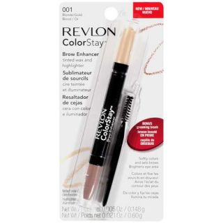 Revlon Colorstay Brow Enhancer Tinted Wax and Highlighter, 001 Blonde/Gold, 1 ct Makeup