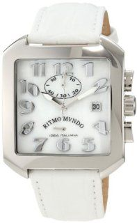 Ritmo Mundo Unisex 608/6 White Mother of Pearl Classic Quartz Chronograph Watch at  Men's Watch store.