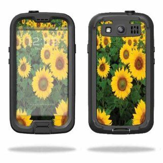 MightySkins Protective Vinyl Skin Decal Cover for LifeProof Samsung Galaxy S III S3 Case fre Sticker Skins Sunflowers: Cell Phones & Accessories