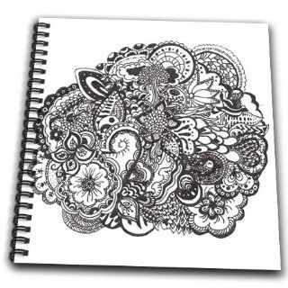 Shop db_58346_1 InspirationzStore Pen and Ink drawings   Detailed Intricate Black and white ink art   nature scene   flowers leaves tree patterns   tattoo   Drawing Book   Drawing Book 8 x 8 inch at the  Home D�cor Store. Find the latest styles with the lo