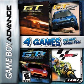 Racing GBA 4 Pack: GT Advance Championship Racing, GT Advance 2 Rally Racing, GT Advance 3 Pro Concept Racing, and Moto GP: Video Games