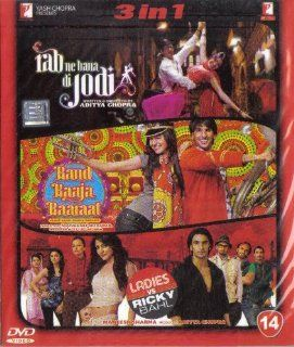 Rab Ne Bana Di Jodi / Band Baaja Baaraat / Ladies vs Ricky Bahl(3 in 1   100% Orginal DVD Without Subtittle): Shahrukh Khan/ Anushka Sharma / Anushka Sharma, Ranveer Singh / Ranveer Singh, Anushka Sharma, Parineeti Chopra, Various: Movies & TV