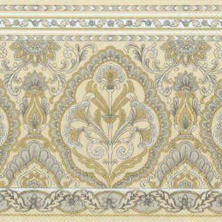 Ideal Home Range Luncheon Decorative Paper Napkins, Samara Cream Gold, 20 Count: Kitchen & Dining