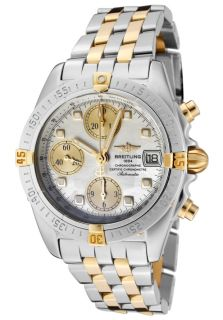 Breitling B1335812/A579 TT  Watches,Mens Windrider Auto/Mech Chrono White MOP Dial 18k Gold & Stainless Steel, Chronograph Breitling Automatic Watches