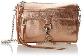 Rebecca Minkoff Metallic Mini Mac Convertible Cross Body Bag,Rose Gold,One Size: Shoes