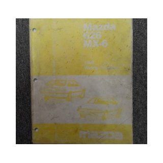 1988 Mazda 626 MX6 MX 6 Electrical Wiring Diagram Service Repair Shop Manual OEM mazda Books