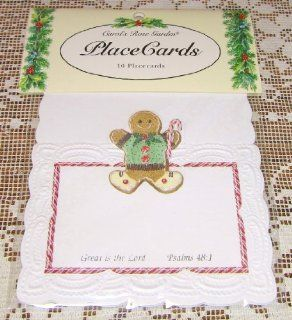 Carol Wilson Christmas Gingerbread Man Place Cards w/Bible Scripture 10 Ct Embossed Die Cut: Health & Personal Care