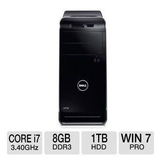 Dell XPS 8700 Desktop PC (Black Chassis)   Intel Core i7 4770 Processor, 8GB DDR3 Memory, 1TB Hard Drive, 1GB NVIDIA GT 635, Bluetooth, Genuine Windows 7 Professional 64 bit : Computers & Accessories