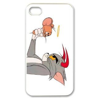 Custombox Tom and Jerry Iphone 4/4s Case Plastic Hard Phone Case for Iphone 4/4s iPhone 4 DF02498: Cell Phones & Accessories