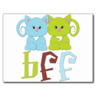 BFF Best Friends Forever Cats Post Cards