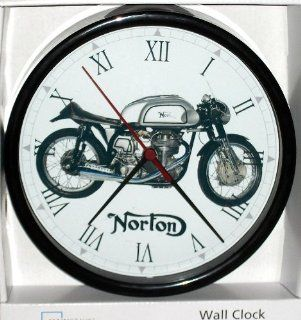 Vintage Classic Antique British Norton Manx 500cc Single Cylinder Motorcycle, Custom Wall Clock Kitchen & Dining