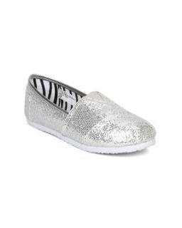 Little Angel Venus 651 Glitter Slip On Designer Flats (Toddler/Little Girl/Big Girl)   Silver Glitter (Size: Toddler 9): Shoes