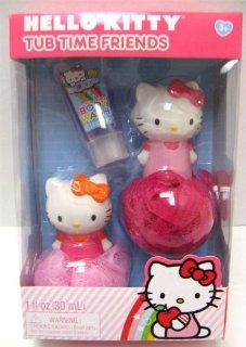 Hello Kitty Tub Time Friends Set   2 Bath Poufs & Body Wash: Toys & Games
