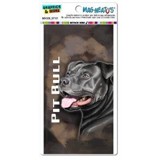 Graphics and More MAG06_07161 Pit Bull Brown Pitbull American Staffordshire Terrier Dog Pet Mag Neato's Car Refrigerator Locker Vinyl Magnet   Automotive Decals