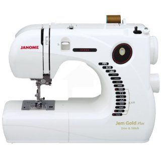 Janome Jem Gold Plus Portable Sewing Machine with Light Serging System (LSS) Model 661