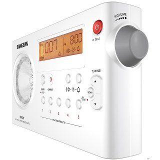Sangean PR D7 AM/FM Digital Rechargeable Portable Radio   White Electronics