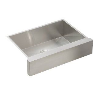 KOHLER K 3936 NA Vault Undercounter Single Basin Stainless Steel Sink with Shortened Apron Front for 30 Inch Cabinet   Single Bowl Sinks