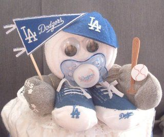 LA Dodgers Baby Shower Gift Centerpiece Boy Diaper Cake : Other Products : Everything Else