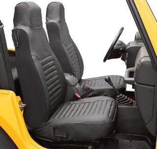 BesTop 29226 15 Jeep Wrangler Front Seat Covers   TJ / LJ   In Black Denim: Automotive