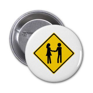 Boy and Girl Road Sign Buttons
