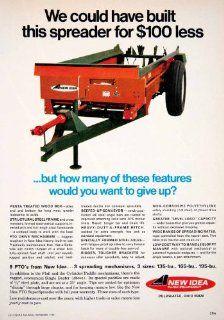1968 Ad AVCO New Idea Farm Equipment Coldwater Ohio Farming Spreader Manure   Original Print Ad