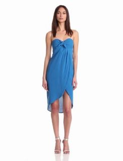 Plenty by Tracy Reese Women's Soft Solid Sarong Strapless Dress, Snorkel, 2