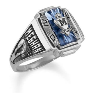 Ladies Siladium® Crestline Heirloom High School Class Ring by