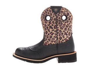 Ariat Fatbaby Cowgirl Black Deertan/Leopard