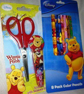 Disney Winnie the Pooh Scissors & Colored Pencils Set