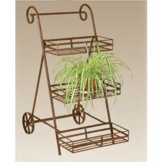 Deer Park Ironworks 3 Tier Flower Cart : Patio, Lawn & Garden