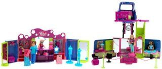 Polly Pocket   Club Groove Del. Gift Set   Double Decker Par Tay Bus w/Polly & Shani Dolls & 2 Shop Stop Playset w/Drew: Toys & Games
