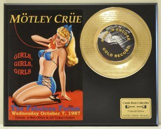 "MOTLEY CRUE ""Girls Girls Girls"" 24kt Gold 45 Record LTD Edition Display Laser Etched w/ Lyrics Only 500 made. Limited quanities. FREE US SHIPPING : Other Products : Everything Else"