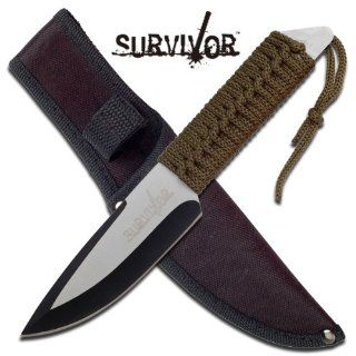Survivor HK 745 Fixed Blade Knife 9 Inch Overall  Tactical Fixed Blade Knives  Sports & Outdoors