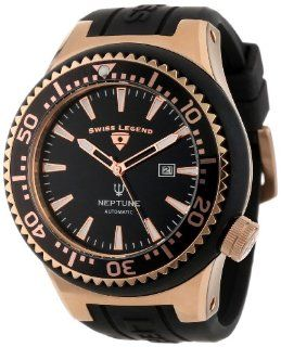 Swiss Legend Men's 11818A RG 01 RA W Neptune Automatic Black Dial Black Silicone Watch at  Men's Watch store.
