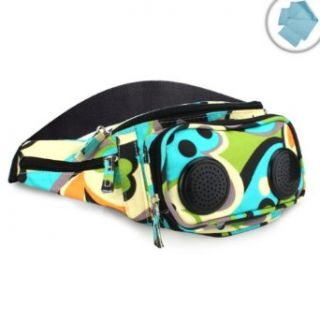 Colorful Party Fanny Pack / Waist Bag Speakers for  Players  Works with Samsung Galaxy Player 4.2 , SanDisk Sansa Clip+ , Apple iPod , Sony Walkman NWZ S764 and More *Bonus Cleaning Cloths* Clothing