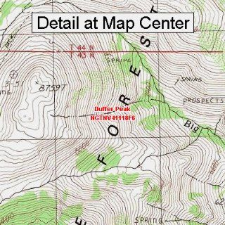 USGS Topographic Quadrangle Map   Duffer Peak, Nevada (Folded/Waterproof)  Outdoor Recreation Topographic Maps  Sports & Outdoors