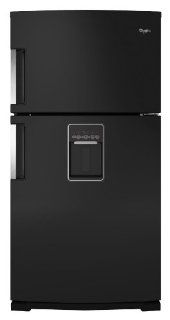 Whirlpool WRT771REYB 21.1 Cu. Ft. Black Top Freezer Refrigerator   Energy Star: Appliances