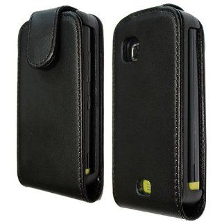 Flip PU Leather Case Cover for Nokia C5 C5 03 Black qh: Cell Phones & Accessories