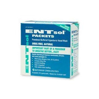 Entsol Packets, Powdered Buffered Hypertonic Nasal Wash   10S: Health & Personal Care