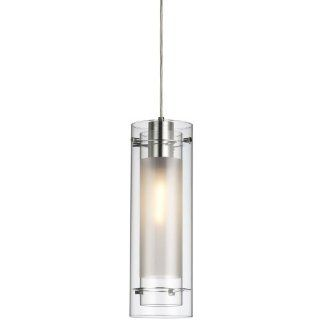 Dainolite 22152 CL 790 PC Single Pendant Clear Glass with Fabric Insert, Polished Chrome White   Ceiling Pendant Fixtures