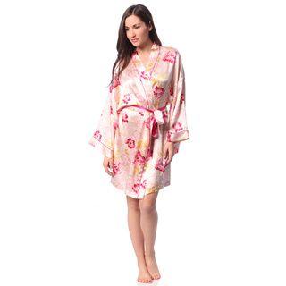 Julianna Rae Julianna Rae Rose Memories Silk Short Robe Gold Size M (8  10)