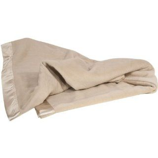 Aus Vio 100 Percent Silk Blanket with Silk Satin Border   Bed Blankets