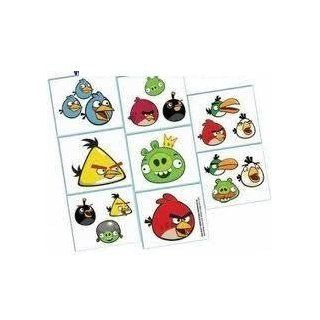 ANGRY BIRDS Party Supplies birthday TATTOOS x16 Favors Treats Red Pig Kids Loots: Everything Else