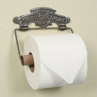 Antique Style Cast Metal and Wood Wall Mounted Toilet Paper Holder   La Premiere Toilet Paper Holder   French Style Toilet Paper Holder