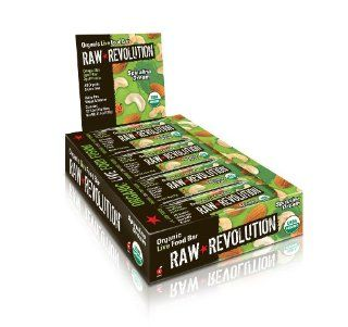 Raw Revolution Organic Live Food Bars, Spirulina Dream, 1.8 Ounce Bars (Pack of 12)  Breakfast Energy And Nutritional Bars  Grocery & Gourmet Food