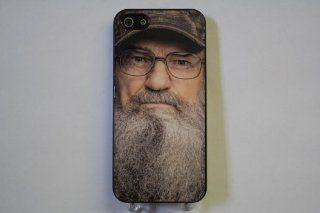 (816bi4) Duck Dynasty's Si Robertson Apple iPhone 4 / 4S Black Case: Everything Else